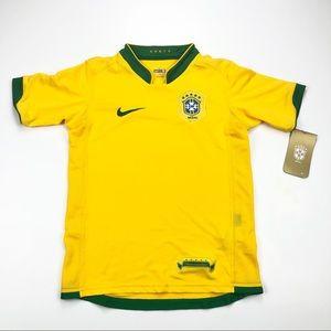 Kids Nike Brazil WC06 Home Soccer Jersey